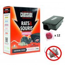 raticide kit complet anti rat et souris caussade