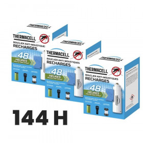 Pack recharge repulsif moustique thermacell 144 heures