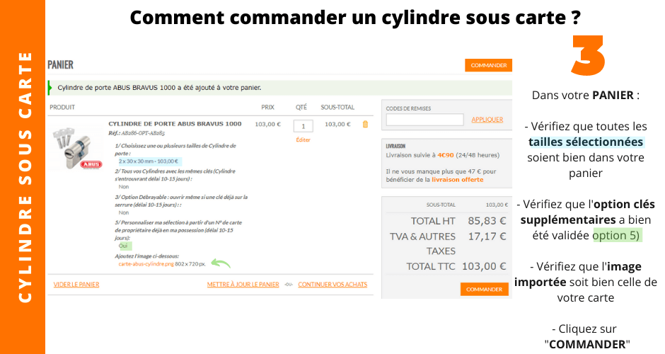 cylindre sous carte