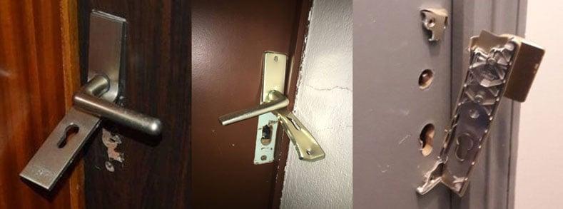 cambriolage par le porte