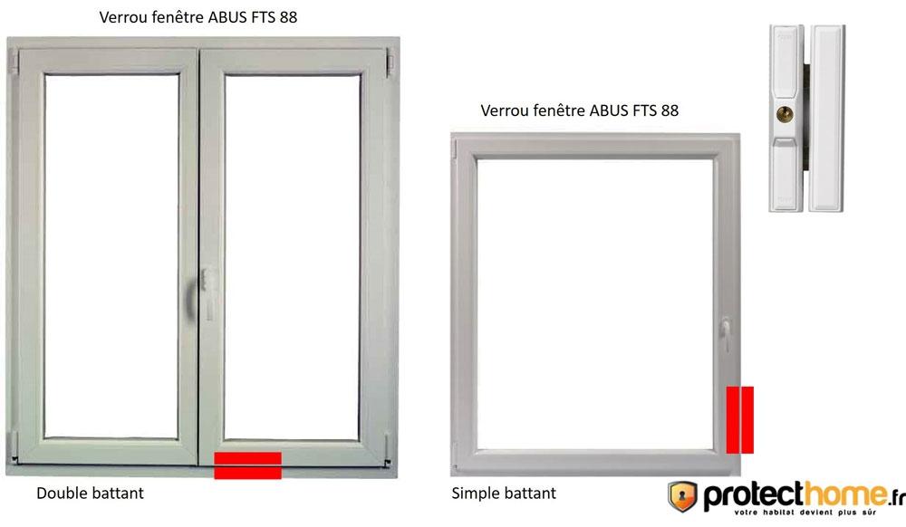 Installation verrou de fenêtre abus fts 88