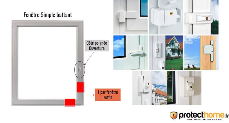sécurité fenêtre simple battant